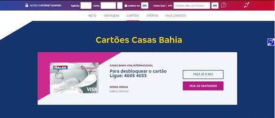Requisitos Para Solicitar Cartão Casas Bahia
