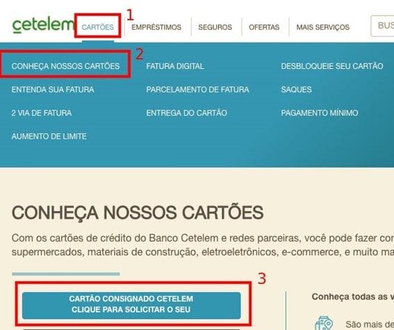 Solicitar Cartão Cetelem Online
