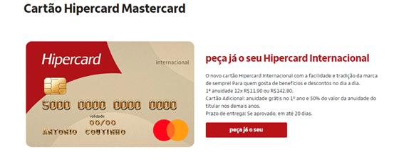 Solicitar Cartão De Crédito Hipercard Pela Internet