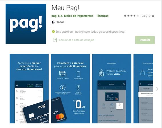 Pedir Cartão Pag Pelo App